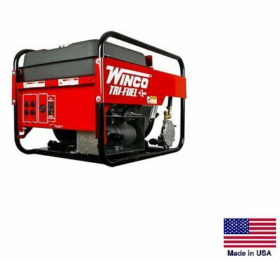 Portable Generator Tri-fuel - Natural Gas Propane Gasoline - 9 Kw - 120240v