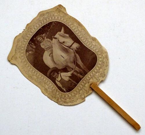 ANTIQUE Vintage MAHLON HAINES SHOES Advertising HAND FAN Pennsylvania
