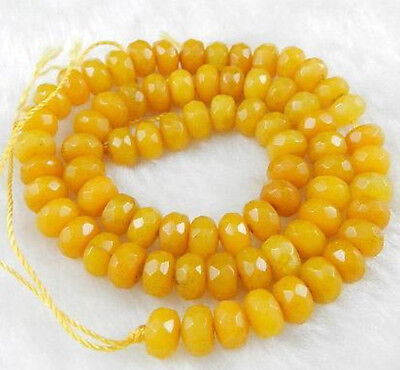"5x8mm Natural Faceted Topaz Abacus Gems Loose Beads 15"" for sale  China"