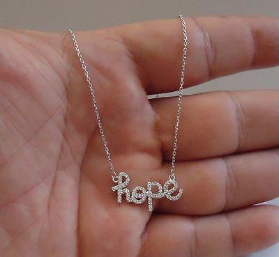 Hope Diamond Necklace - 925 STERLING SILVER HOPE NECKLACE PENDANT W/ .75 CT LAB DIAMONDS/ 18''