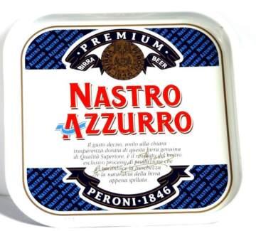Retro/Collectible (80's) Nastro Azzurro Beer Metal Tray