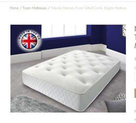 Mattress tufted memory foam spring orthopaedic mattress King Size