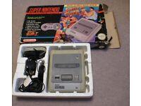 Console nintendo snes street fighter II boxed - super nes