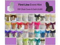 Spandex Chair Cover and Sash Only £0.89! Nationwide