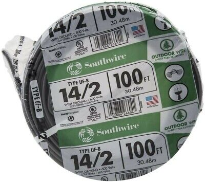 Southwire 13054226 142wg Uf Wire 100-foot Approved For Direct Burial Wiring