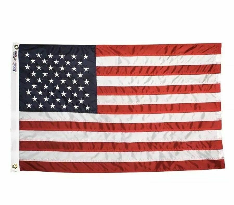 Annin Flagmakers 4x6 3x5 5x8 American US Flag 4x6 ft Nylon SolarGuard Made USA