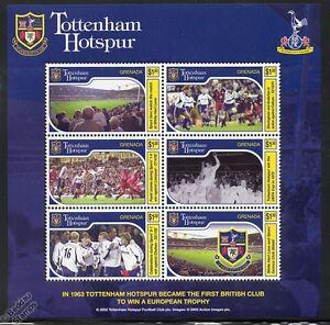 TOTTENHAM-HOTSPUR-Football-Club-Stamps-2002-Grenada-MiniSheet-Spurs-Soccer