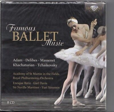 FAMOUS BALLET MUSIC 5-CD BOX SEALED SIR NEVILLE MARRINER CARL DAVIS YURI SIMONOV Ballet Music Box