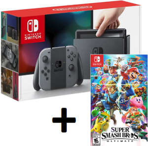 New NINTENDO SWITCH CONSOLE + SUPER SMASH BROS. ULTIMATE Game
