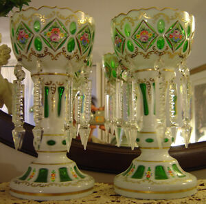 Gorgeous Vintage Crystal Candle/Flower Holders