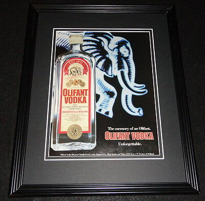 1985 Olifont Vodka 11x14 Framed ORIGINAL Vintage Advertisement