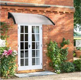 Door and Window Canopy for Sun Shade And Rain - Black / 120cm