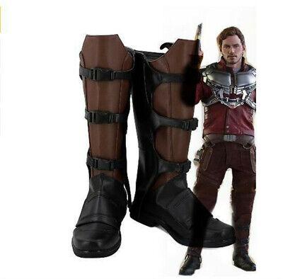 Wächter der Galaxie Star Lord Peter Quill Leder Cosplay Stiefel Schuhe Nach - Der Wächter Kostüm