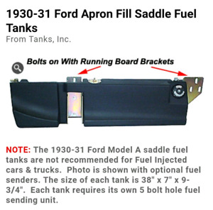 """1930-31 ford model A saddle tanks """"NEW"""""""
