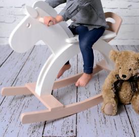 Childs sit on Aeroplane & Rocking horse