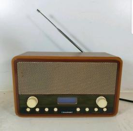 Retro Vintage Style BLAUPUNKT Digital Radio DAB / FM & Dual Alarm cloc