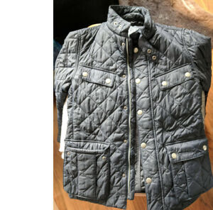 Men's Barbour Quilted Motorcycle Jacket - Navy. Size Small.