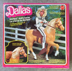 Cheval Palomino Dallas Barbie 1980 # 3312 Mattel Vintage