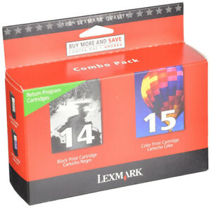 Lexmark 14/15 Black/Colour Ink Cartridges, Combo Pack (53A4238)