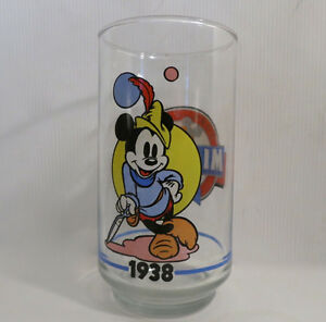 Complete Set of 6 Mickey Mouse Glasses Sunoco Canada 1928 - 1988 Kitchener / Waterloo Kitchener Area image 5