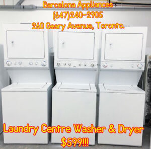 TOP LOAD WASHER & DRYER WITH 1 YEAR WARRANTY