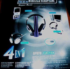 4-in-1 Super Boss Wireless Headphone Cambridge Kitchener Area image 4