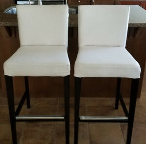 IKEA Beige Henriksdal Bar Stool Chairs with Backrest