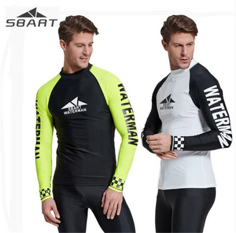 SBART Men's Diving Wetsuit Guard Shirt Swimwear Surfing Top