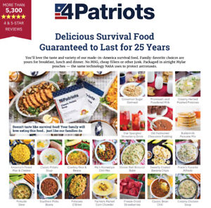 DELICIOUS DEHYDRATED 25 YEAR  SURVIVAL FOOD