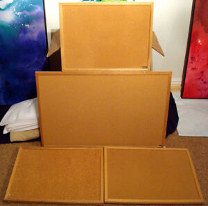 Four cork boards of various sizes (can be sold separately)