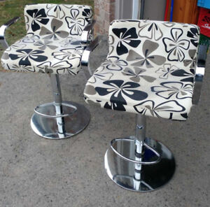 Funky is Back! Chrome Bar Chairs 70's style