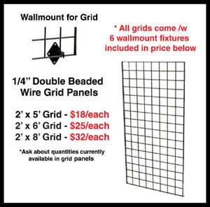 Grid Panels, Black (Assorted), Retail Display