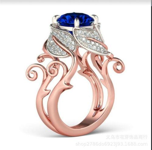 18K Gold Plated Rose Gold Wedding Ring Engagement Ring Desig