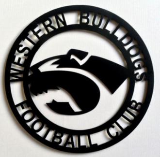 Brand new western bulldogs metal wall art