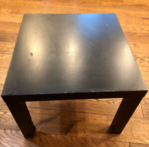 Two black side tables $10.00 each /OBO