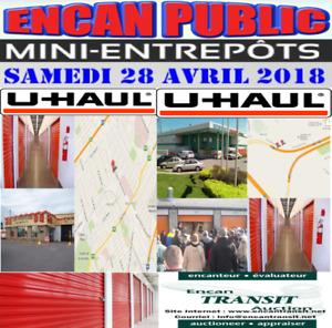 ENCANS DE MINI ENTREPÔTS CHEZ U-HAUL À QUÉBEC 28 AVRIL 2018