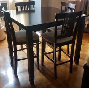Counter Height Dining Table Set with 4 Chairs