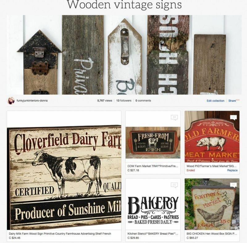 Wooden Vintage Signs - a collection of ready made signs and supplies so you can make your own!