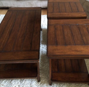 Coffee table& end table