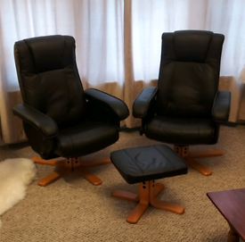 Black recliner chairs