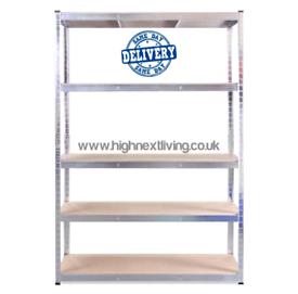 5 Tier Garage Racking Shelf Heavy Duty Shelving Storage Shelves 180x90