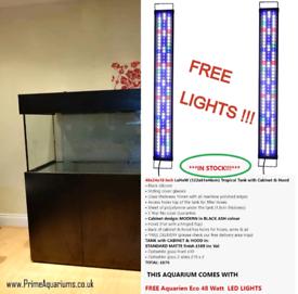 NEW Tropical Aquarium 48x24x18 inch with FREE LIGHTS