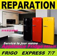 REPARATION RÉFRIGÉRATEURS 514-8128940 D'APPAREIL ÉLECTROMÉNAGERS