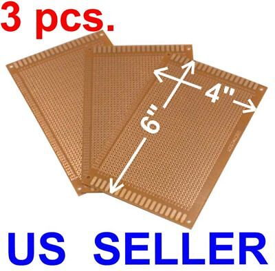 3 Pcs 4x6 9x15cm Prototyping Pcb Printed Circuit Board Prototype Breadboard Kit