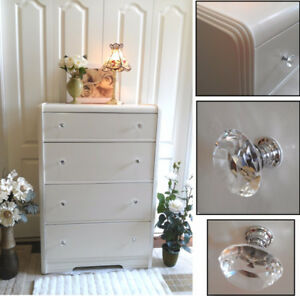 Charming! Professionally Refinished Maple Tall Boy Dresser