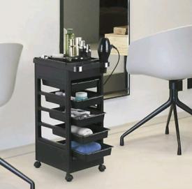 4 Wheels Salon Hairdresser Barber Trolley Coloring Storage Cart