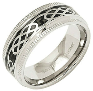 Men's Stainless Steel Design Band Rings by Emma Skye