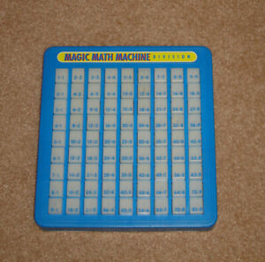 1977 Vintage Magic Math Division Board