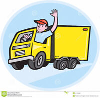 Driver/Mover Full / Part time $15 hourly