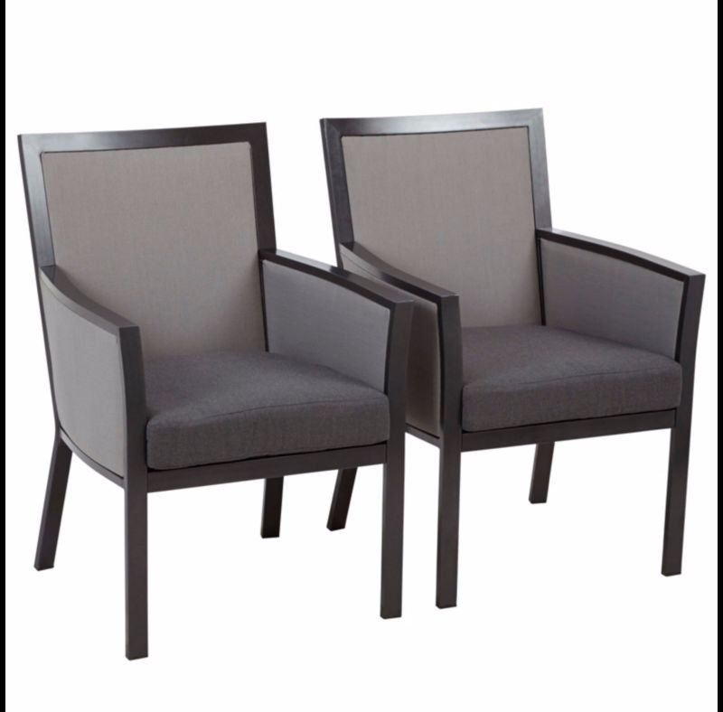 BRAND NEW ASDA PAIR OF Grace Dining Chairs   Charcoal   Grey OR Taupe    Linen. BRAND NEW ASDA PAIR OF Grace Dining Chairs   Charcoal   Grey OR